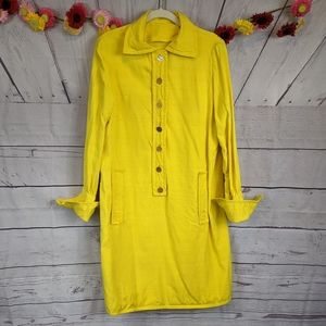 Vintage 60s Homemade Bright Yellow Dress SZ M